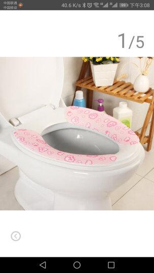 晟旎尚品 绒面黏贴式马桶垫 马桶套 粉色蝴蝶结 晒单图