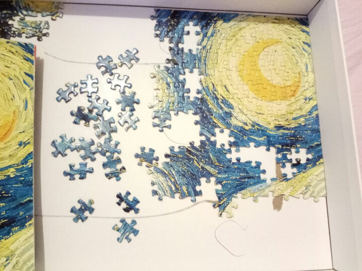 古部 成人拼图1000片 世界名画梵高油画拼图玩具11CF10001770-蒙娜丽莎 晒单图