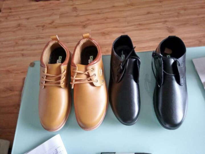 【大牌直降 闪电发货】卡帝乐鳄鱼(CARTELO)商务休闲男鞋时尚系带休闲鞋 黑色 43 晒单图