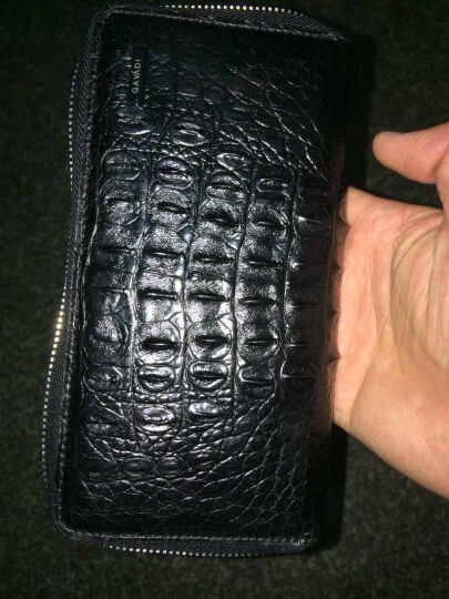 卡梵蒂GAVADI 鳄鱼皮钱包 男士长款真皮多功能钱包商务手拿包男手包多卡位拉链皮夹 尾部标准版 晒单图