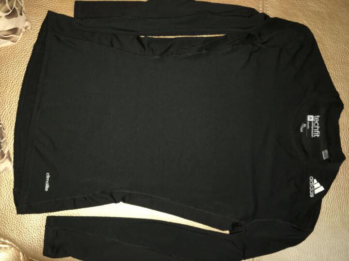 新款Adidas/阿迪达斯男款长袖紧身衣 足球篮球骑行健身速干排汗 运动T恤 AJ5016 黑色 (新款) XL(185/104A) 晒单图