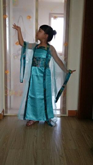 儿童古装女唐朝汉服公主拖尾贵妃宫廷古代衣服仙女古筝演出服装 紫衣紫边 120 晒单图