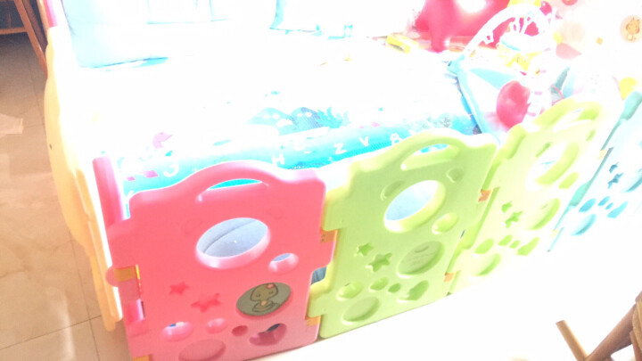 澳乐(AOLE-HW)儿童婴儿游戏围栏爬行垫围挡安全护栏宝宝学步围栏栅栏海洋球池室内玩具 跑跑熊14片+门栏+趣味栏【送200球和收纳筐】 晒单图
