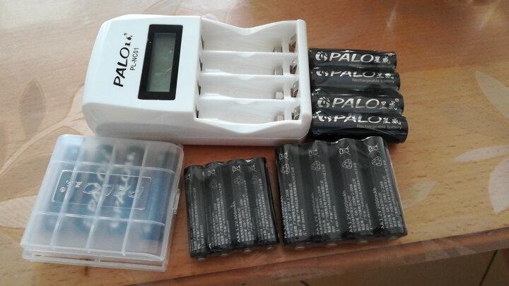 星威(PALO) 液晶智能快速充电电池充电器四槽可充5号7号镍氢镍镉AA/AAA电池 充电器+8节5号2000+8节7号900 晒单图