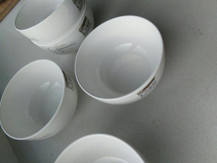 雅诚德arst陶瓷白色时尚简约餐具面碗大米饭碗套装5.5英寸(6只装) 晒单图