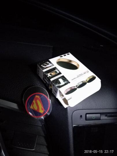 驰航 车载手机支架汽车磁铁吸附式中控台仪表台手机支架座车用品装饰平板导航仪通用 出风口圆形磁铁支架/银 晒单图