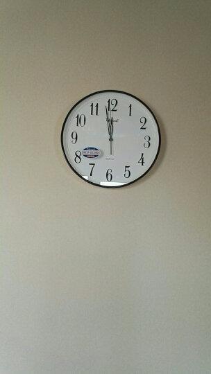 天王星(Telesonic)挂钟 客厅静音简洁石英钟窄边设计13英寸Q1689-2珍珠浅蓝 晒单图