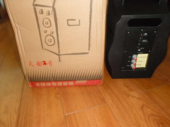 纽曼(Newmine)户外广场舞音响 便携插卡蓝牙音箱移动扩音器大功率锂电播放器低音炮语音播报 红色 麦克风版 晒单图