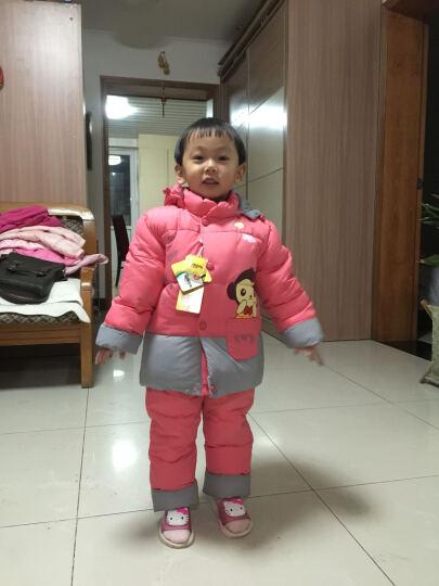 卡娃羽 男女儿童羽绒服套装 白鸭绒棉衣两件套冬季热卖 花生红 90cm(90码推荐身高90-95) 晒单图