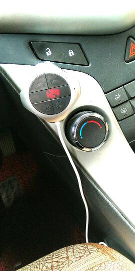 卡斯兰 新款车载mp3 蓝牙播放器 双usb插卡蓝牙车载充电器车充 FM调频发射器 银色 XF4123 晒单图