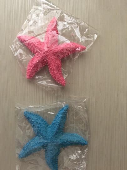 梦曼森 地中海风格五指海星海螺地台摆设 创意树脂鱼缸装饰摆件墙贴墙饰 馒头海星大小两个白色 晒单图