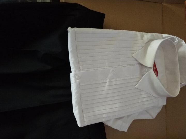 ELPA儿童礼服套装夏男童小花童六一儿童节演出服学生合唱服短袖背带裤套装黑白红色夏季 NC0031白色衬衫 165码 身高155-165cm体重101-110 晒单图