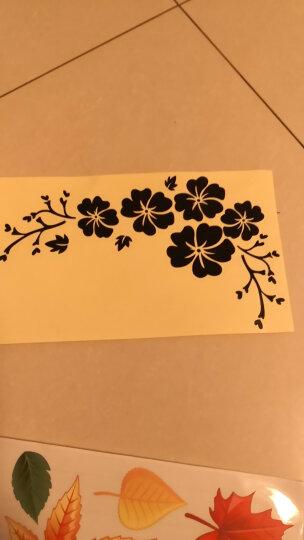 翼贴 花纹遮挡划痕随意贴笔记本旅行箱包汽车装饰 花朵三 反光黑 小 晒单图