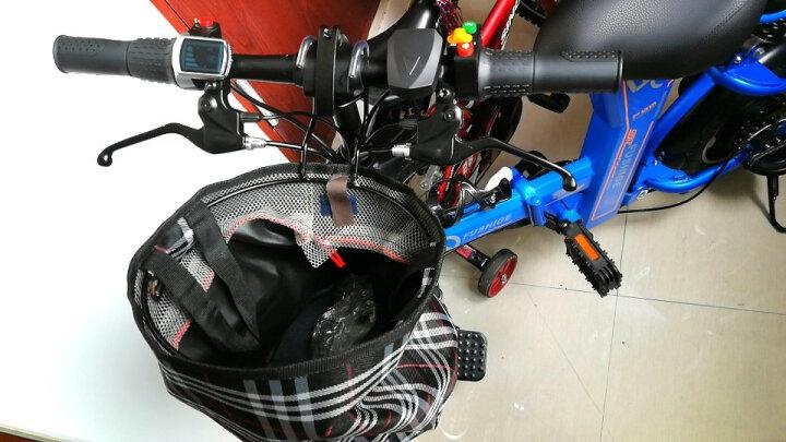 富士哥 电动车自行车48V锂电折叠电动车男女滑板平衡车代驾代步电瓶成人助力山地单车学生车 三避震双座-红色 续航30-35公里 晒单图