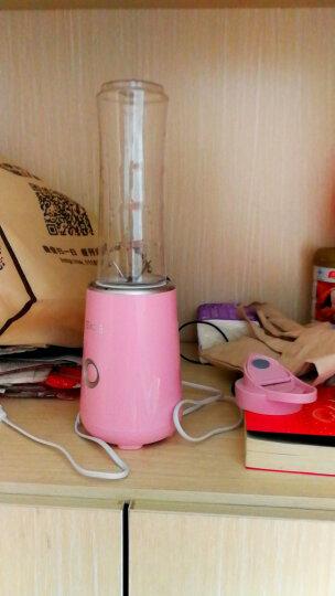 SKG 迷你电动榨汁杯 便携式榨汁机家用 多功能奶昔水果汁机  一机双杯2098 樱花粉 晒单图