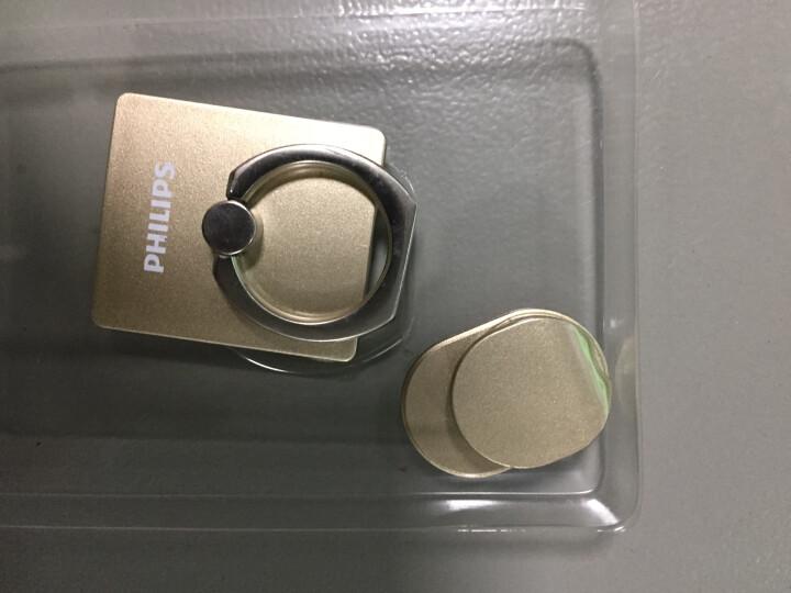 飞利浦 DLK35003 手机便携支架 金属指环扣支架 创意配件车载懒人支架 适用于6S/三星/华为等手机 白色 晒单图