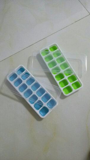 HAIXIN 冰格 冰块模具 硅胶带盖冰块制冰盒2只装 天蓝+绿色 2个装 晒单图