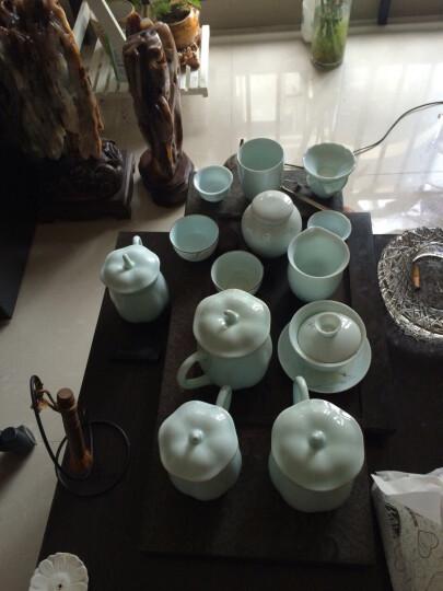 三勤堂茶杯陶瓷办公室茶具带盖 景德镇青瓷茶杯水杯绿茶杯茶具杯子单杯 初荷 晒单图