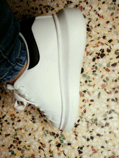 KSD 休闲鞋女鞋时尚厚底增高鞋运动女韩版潮秋季2017新款松糕学生小白鞋冬季女生鞋子 YD-1N001-绿色(主图款) 37 晒单图