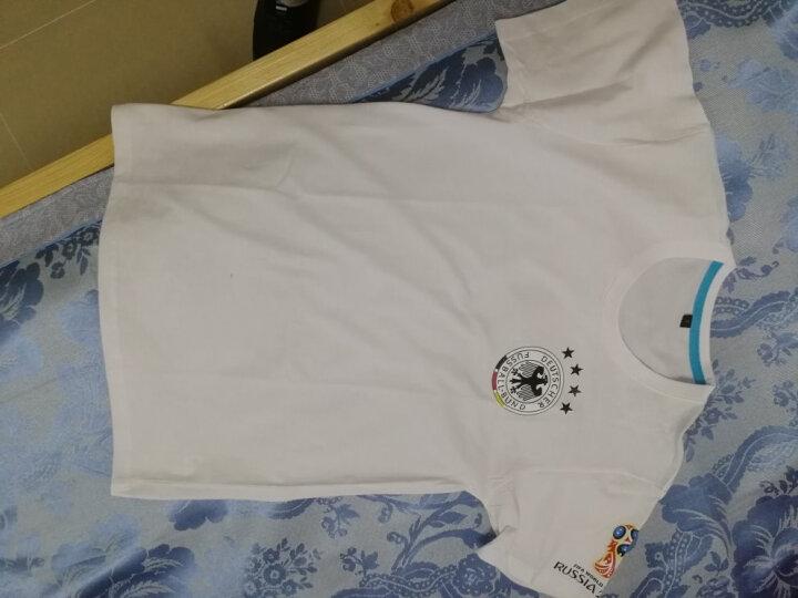 2018俄罗世界杯足球t恤短袖男德国巴西英格兰国家队球迷足球T恤男 球衣套装世界杯标志 蓝色标志 XL 晒单图