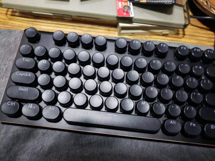 RK ROYAL KLUDGE RK悬浮透光个性定制复古蒸汽朋克游戏网网咖机械键盘按键帽 108颗黑色复古朋克透光键帽 晒单图