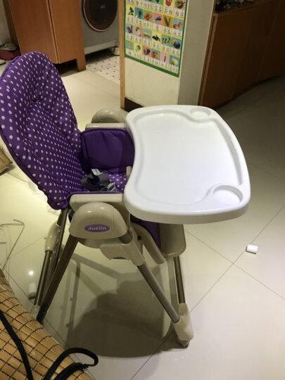 佳田(JUSTIN) 【买一送三】可折叠儿童餐椅 婴儿餐桌椅宝宝吃饭多功能座椅子 紫色波点 晒单图