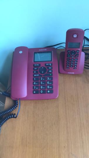 摩托罗拉(Motorola)C4200C数字无绳电话机/座机/子母机免提来电显示低辐射家用办公一拖一固定无线座机(红色) 晒单图