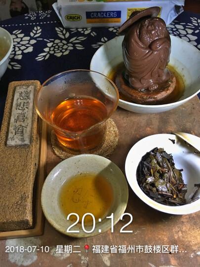 中茶湖南安化黑茶经典老茶 特制黑砖茶400g 2005年产 晒单图