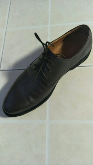 哈森男鞋 春季牛皮尖头系带低跟低帮舒适商务正装鞋MS66421 棕色 42 晒单图