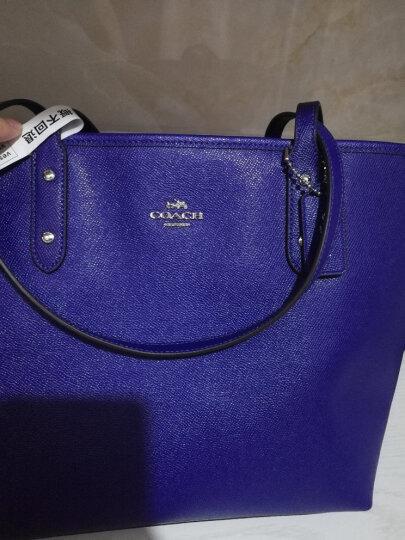 COACH 蔻驰 奢侈品 女士紫色PVC手提单肩包 F58846 SV/PX 晒单图