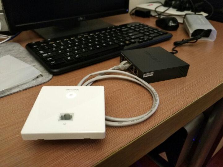 普联(TP-LINK) 无线面板AP酒店家用企业宾馆室内86型入墙wifi覆盖POE供电 TL-AP303I-PoE 网口+USB接口 晒单图