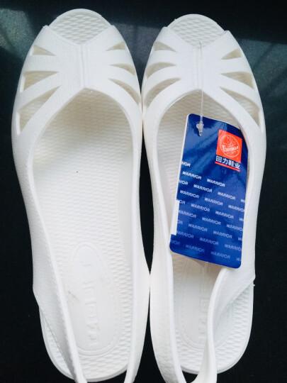 回力凉鞋女2017新款工作鞋女护士鞋夏季透气白色坡跟塑料沙滩鞋防滑洞洞鞋休闲凉拖鞋时尚鞋子 916茶色-高跟 36 晒单图
