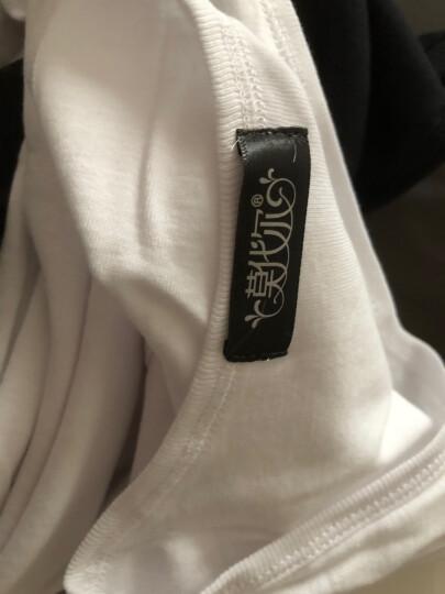 莫代尔(2件装)男士背心 男纯棉紧身休闲汗衫运动背心 黑+白 XL(175/95) 晒单图