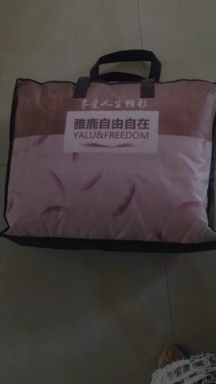 雅鹿·自由自在 床垫床褥家纺 四季可用双人轻薄床垫保护垫子 可折叠床褥子 1.8米 180*200cm 粉色 晒单图