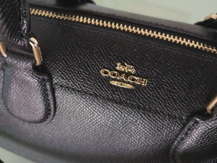 蔻驰(COACH)女士手提单肩斜挎波士顿包中号 F32203 PVC IMAA8咖啡色 晒单图