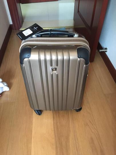 瑞动(SWISSMOBILITY)拉杆箱PC+ABS时尚轻盈登机箱旅行行李箱20英寸万向轮MT-5553-37T00金底银长方格 晒单图