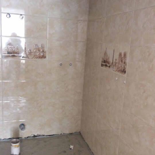 宝润 瓷砖 卫生间瓷砖300 600 浴室墙砖 厨卫砖 防滑地砖 防污建材家装 卫生间腰线70*300mm 70*300腰线 晒单图