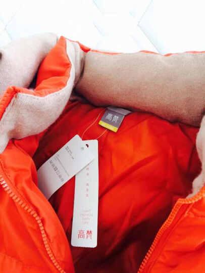 高梵2017秋冬新款时尚轻薄羽绒服女中长款显瘦连帽女装外套 黑色 160/M 晒单图