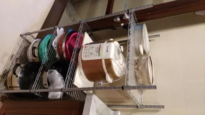 心家宜 储物架 置物架浴室 厨房四层金属收纳架 落地电器架GX_5202S 晒单图