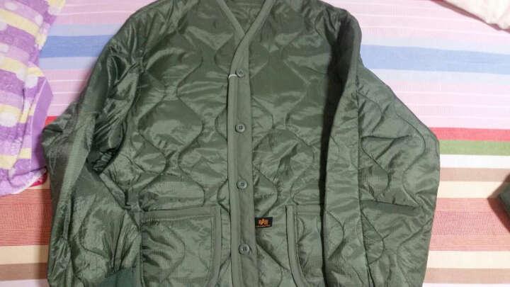 阿尔法Alpha 经典M65风衣内胆 轻薄柔软 军迷外套棉衣棉服 保暖衣服 铁血君品 绿色 L 晒单图