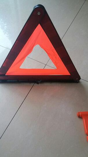 迪斯沃 汽车三角架警示牌 车用三脚架警示牌 反光三角牌 车载停车牌 折叠危险牌 故障标志 国标款+【安全锤】 有 晒单图