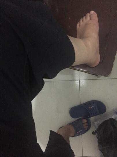 七分裤男2018夏季新款阔腿裤男士亚麻短裤中国风宽松抽绳休闲裤 蓝灰色 4XL建议190-220斤 晒单图