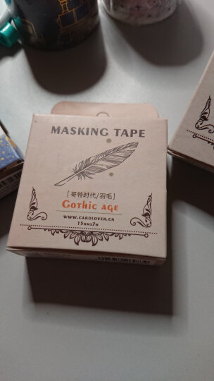 哥特时代 复古和纸胶带 40mm/30mm/15mm  创意手帐本子装饰贴纸 纪念邮票15mm*7m 晒单图
