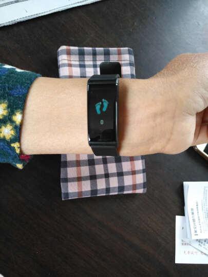 智能手环 心率血压血氧睡眠监测男女运动彩屏手环计步器微信内容显示来电提醒华为三星苹果通用 黑色 晒单图