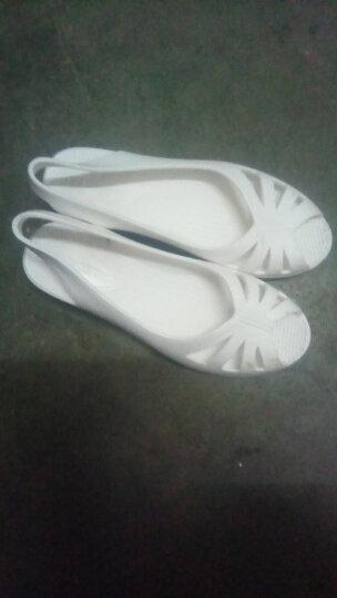 回力凉鞋女2019夏季新款工作鞋女护士鞋白色坡跟韩版沙滩鞋鱼嘴洞洞鞋女 白色 38 晒单图