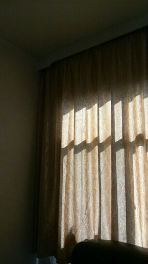 伊帘坊 窗帘成品加厚双面提花遮光布凤尾简约现代定制客厅卧室窗纱窗帘 窗纱灰色 不加工一米要几米拍几件 晒单图