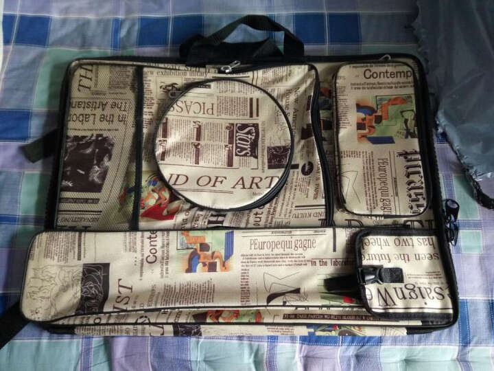 画袋报纸纹防水画板袋 /4K手提可背多功能画袋 画板袋 画袋  画包(送素描纸1包) 晒单图