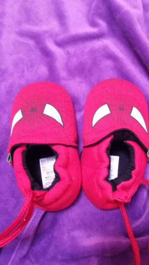 德乐宝(delebao) 德乐宝婴儿鞋0-1岁学步鞋棉布软底宝宝不掉鞋婴儿童鞋 v字拼接-粉蓝 13码数 晒单图