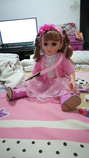 安娜公主 会说话的芭比娃娃娃娃对话的洋娃娃智能娃娃洋娃娃充电版送遥控 女孩玩具 充电版 关节体20号娃娃 晒单图
