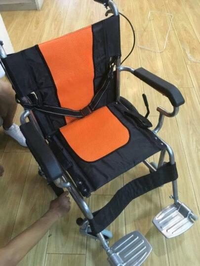 亿佰康轮椅折叠轻便手动轮椅车 老人旅行便携小轮椅 儿童免充气轮椅 实心胎轮椅代步车 后轮充气 晒单图